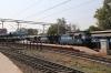 ET WDM3A's 18809/16014 wait to depart Jabalpur Jn with 12141 2335 (P) Lokmanya Tilak Terminus - Patliputra