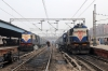 Two MLDT WDM3A's at Delhi Junction at once! 16569 waits with 15715 0600 (P) Kishanganj - Ajmer Jn while 16514 sits with an unidentified train