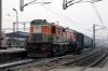 LDH WDG3A 14865 waits at Delhi Jn with 19601 0020 Udaipur City - New Jalpaiguri Jn