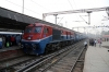 TKD WDP3A 15541 arrives into Delhi Jn with 54416 1310 Rewari Jn - Delhi Jn