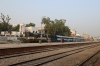 ABR WDM2 16827 stands at Makrana Jn with the three coaches that will form 54822 0915 Makrana Jn - Parbatsar City