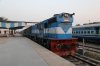 IZN WDM3D 11303 waits departure from Pilibhit Jn with 55368 1820 Pilibhit Jn - Bareilly City