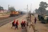 PTRU WDM3A 16520 waits to depart Mahesmunda Jn with 53365 0835 Mahesmunda Jn - Koderma Jn