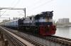 VTA WDM3D 11415 on the bridge over the Sabarmati River between Ahmedabad & Sabarmati with 59547 1200 Ahmedabad Jn - Rajkot Jn