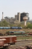 UBL WDP4 20027 departs Sabarmati Town station with an unidentified express train. SBI YDM4 6557 is on a BG flat wagon in the yard between Sabarmati Town & Junction stations