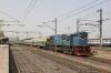 VTA WDM3D 11244 pauses at Sabarmati Town with 59548 0540 Rajkot Jn - Ahmedabad Jn