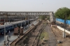 View from the fottbridge over the MG platforms at Ahmedabad Jn of the disused MG tracks towards Sabarmti. On the left BGKT WDP4 20078 waits to depart with 12548 1655 Ahmedabad Jn - Agra Fort