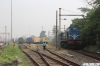 BGA WDS6's 36092 & 36108 stabled in the carriage sidings outside Sealdah