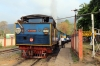 ONR X Class steam 37398 leads 56136 0710 Mettupalayam - Udagamandalam during a water stop at Kallar