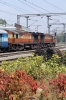 KZJ WDM3A's 18889/18761 stand at Bangalore Cantt with 12975 1015 Mysore Jn - Jaipur Jn