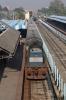 SPJ WDM3D 11281 arrives into Samastipur Jn with 15549 0600 Jaynagar - Patna Jn Intercity via Sonpur & Digha Bridge