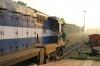 GY WDM3A's 14034/14032 depart Madgaon Jn with 18048 0710 Vasco Da Gama - Howrah