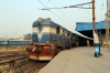 TKD WDP1 15038 waits departure from Delhi Junction with 54035 1540 Delhi Jn - Jakhal Jn