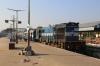 HWH WDM3D 11404 waits departure from Jamalpur Jn with 53042 2010 (P) Jaynagar - Howrah Fast Passenger