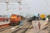 GTL WDG3A's 14898/13240 wait to depart Secunderabad Jn with 17018 1515 Secunderabad Jn - Rajkot Jn