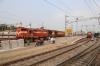 Secunderabad Jn (L) GTL WDM3A/D twins 16566/11339 wait to depart with 15015 0635 (P) Gorakhpur Jn - Yesvantpur Jn while (R) GTL WDG3A's 14898/13240 wait to depart with 17018 1515 Secunderabad Jn - Rajkot Jn