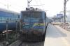CNB WAG7 27280 waits to depart Mumbai CST with 12869 1105 Mumbai CST - Howrah