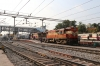 KZJ WDM3A's 16363/16501 depart Secunderabad Jn with 12748 1345 Vikarabad Jn - Guntur Jn