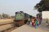IZN YDM4 6531 pauses at Shahgarh with 52208 1330 Mailani Jn - Pilibhit Jn