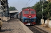 TKD WDP3A 15525 passes through Vivekanand Puri Halt with 14036 2320 (P) Pathankot - Delhi Jn