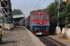 TKD WDP3A 15525 passes through Vivekanand Puri Halt with 14036 2320 (P) Pathankot - Delhi Jn