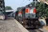 LDH WDG3A 14743 arrives into Vivekanand Puri Halt with 54032 0720 Jind Jn - Delhi Jn