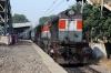 LDH WDG3A 14743 arrives into Vivekanand Puri Halt with 54032 0720 Jind Jn - Delhi Jn
