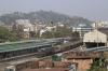 UDL WDG3A 14873 arrives into Guwahati Jn with a freight, seen from my hotel room at the Contour Hotel
