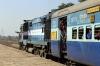 NKJ WDM3A 16772 departs Sihora Road with 11452 0600 Rewa - Jabalpur Intercity