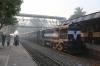 BWN WDM3A 16697 stands at Barharwa Jn with 53021 0315 Azimganj Jn - Sahibganj Jn