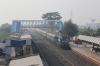 HWH WDM3D 11403 arrives into New Farakka Jn with 13421 0440 Nabadwip Dham - Malda Town