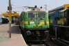 LGD WAG9 31442 stands at Secunderabad Jn after bringing in the rake for 02784 1240 Secunderabad - Bhubaneswar, which was worked by KZJ WAG7 28028