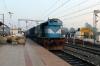 ET WDM3D 11340 at Katni Jn, having just re-engined 22182 1750 (P) Delhi Hazrat Nizamuddin - Jabalpur Jn
