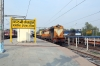 ET WDM3A 14102 (with brand new WDG4D 70410 dead in tow) waits departure from Katni Jn with 51762 1445 Katni Jn - Itarsi Jn