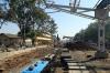Gauge Conversion works of the old NG platforms at Chhindwara Jn