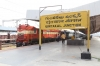 GY WDG3A's 14571/14579 waiting to depart Guntakal Jn with 18111 1835 (PP) Tatanagar - Yesvantpur Jn