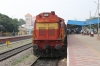 KZJ WDM3A 16376 waits to depart Bellary Jn with 57273 0600 Hubli Jn - Tirupati