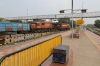 GTL WDG3A's 14714/13583 wait the road at Bellary Jn with a freight