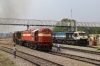 GTL WDG3A's 14714/13583 wait the road at Bellary Jn with a freight. UBL WDG4's 12140/12xxx stand alongside