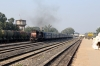 ET WDM3A 18692 powers through Katni South with 51672 1445 Katni Jn - Itarsi Jn