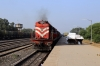 KTE WDG3A twins 14753/14734 (with PTRU WDM3A 18821 dead in train) arrive into Katni South with 11448 1310 (P) Howrah - Jabalpur Jn Shaktipunj Express