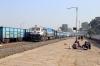 ET WDP4D 40195 runs through Sihora Road with 11066 1310 (P) Darbhanga Jn - Lokmanya Tilak Terminus