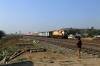 KYN WDM3A 16049 approaches Sihora Road with 01453 1045 (P) Pune Jn - Varanasi Jn Special