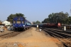 KTE WDG3A 14793 arrives Jabalpur Jn with a freight while ET WDP4B 40042 shunts a saloon coach