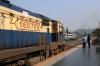 MLDT WDM3A 16078 waits at Kamakhya Jn with 55819 0700 Mendipathar - Guwahati Jn while MLDT WDM3A 16845 departs with 55753 0245 Alipurduar Jn - Guwahati Jn Sifhung Passenger