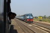 KTE WDM3A 16786 runs through Gosalpur with 11266 0620 Ambikapur - Jabalpur Jn