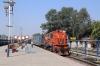 PTRU WDM3A 16109 waits departure from Chopan with 51677 1030 Chopan - Shaktinagar mixed train
