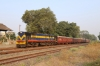 VRL outbased SBI YDM4 6560 at Visavadar Jn with 52952 0715 Junagadh Jn - Delvada