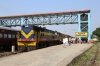 VRL outbased SBI YDM4 6560 at Veraval Jn after arrival with 52950 0745 Delvada - Veraval Jn