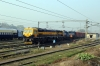 WDG4D 70345 with GD WDG3A 13052 dead inside stands in Lucknow Charbagh Yard